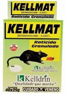 Raticida Kellmat Granulado 40x25grs Pct