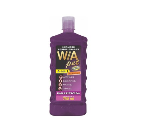 Shampoo Condicionador Parasiticida 6x1 - 750ml Wa Pet