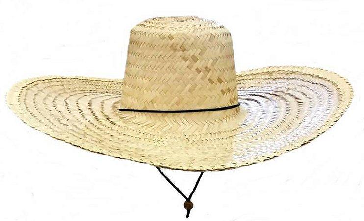 Chapéu Palha Gigantão C/ Barbelo