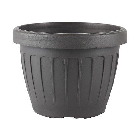Vaso Plástico Redondo Adri-40 Preto