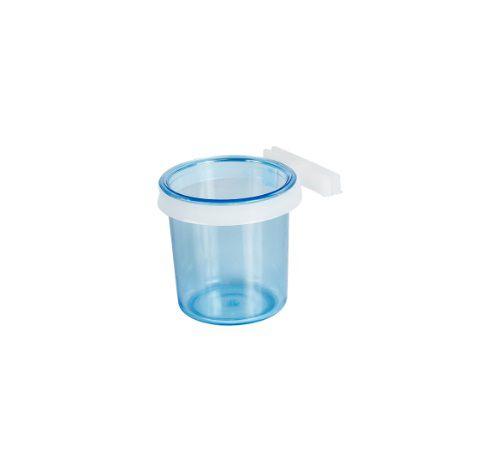 Porta Vitamina Presilha Fechada Azul G 30ml Pct Com 12pçs
