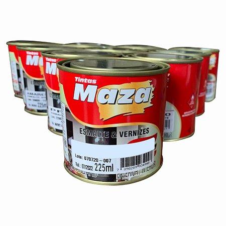 Tinta Esmalte Sintetico Preto Fosco 225ml Maza