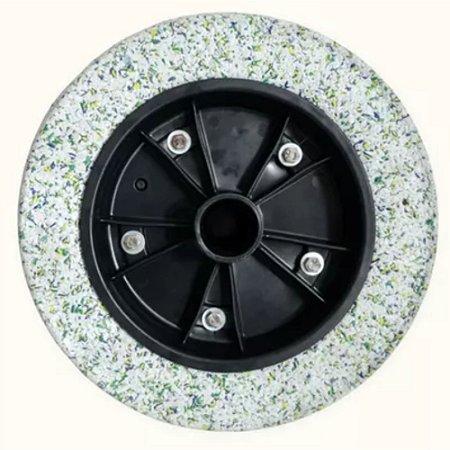 Roda Completa Maciça Borracha Expandida 3,25x8mm
