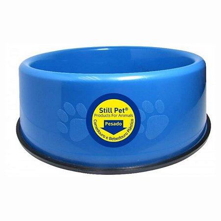 Comedouro Plástico Pesado Filhote G 450ml Azul Still Pet
