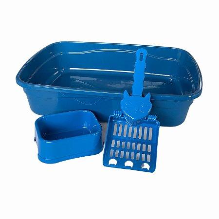 Kit Bandeja Single Azul Pet Brinqpet