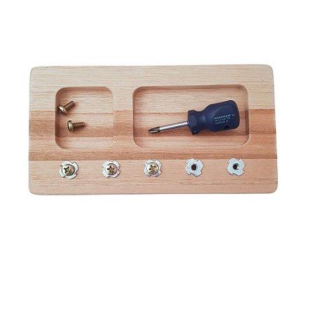 Kit Montessoriano Tábua de ferramentas - chave e parafuso philips