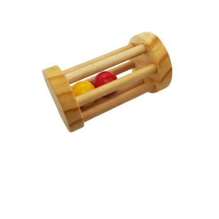 Brinquedo bebê Chocalho redondo com bolas coloridas