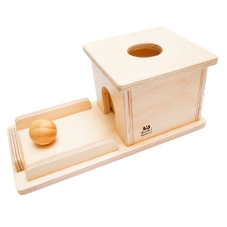 Montessori Caixa de permanência madeira