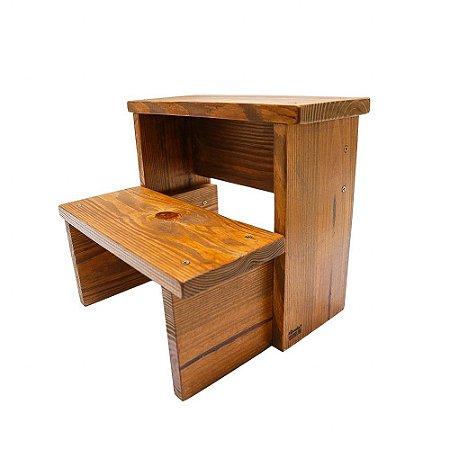 Escada infantil em madeira maciça - imbuia