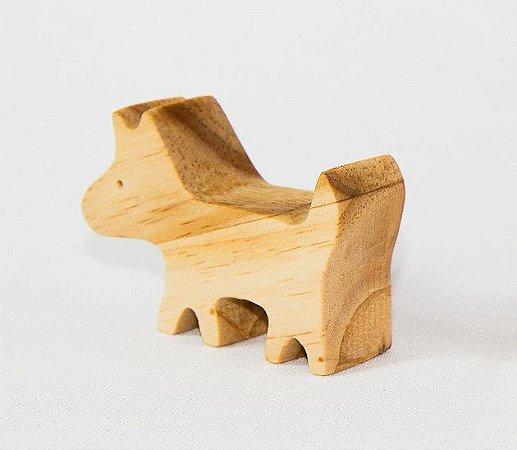 Cachorro de madeira - Animais de madeira