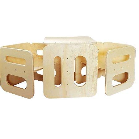 Conjunto mesa e cadeira cubo