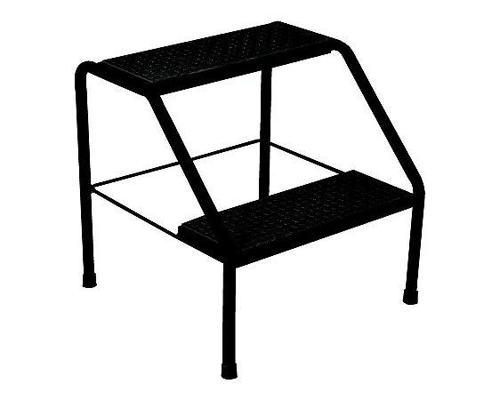 Escada Metálica 02 Degraus Black