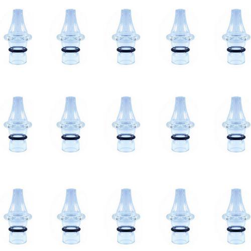 Ponteira p/ Caneta Extratora de Cravos Corpo de Vidro - Kit com 15 Peças