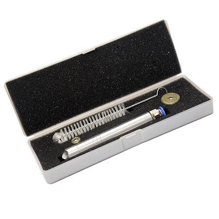 Caneta Peeling Diamante Corpo Alumínio Com 2 Ponteiras - Opção 4 Cores