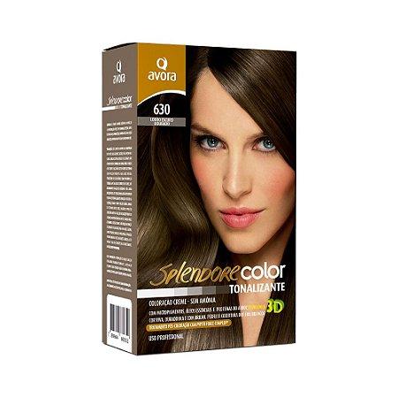 Avora Splendore Color creme tonalizante sem amonia 630 Louro Escuro Dourado