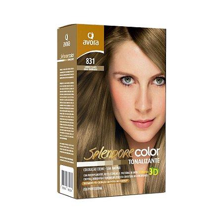 Avora Splendore Color creme tonalizante sem amonia 831 Louro Claro Bege Dourado