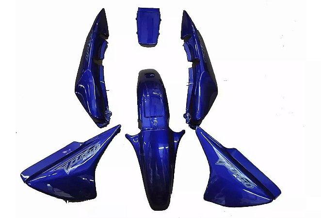 Kit Carenagem Adesivada Titan 150 ESD 2008 Azul Perolizado - Sportive