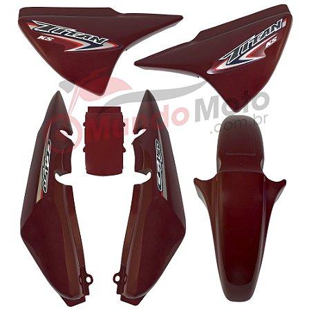 Kit Carenagem Adesivada Titan 150 KS 2007 Vermelho - Sportive