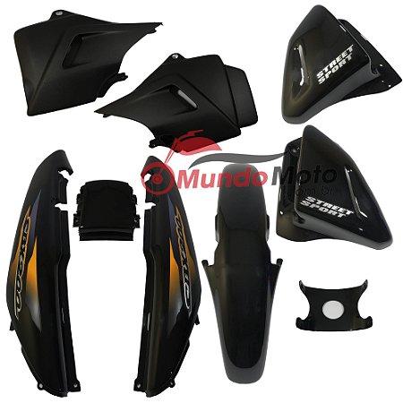 Kit Carenagem Adesivada Honda CBX 200 Strada 2001 Preto - Sportive