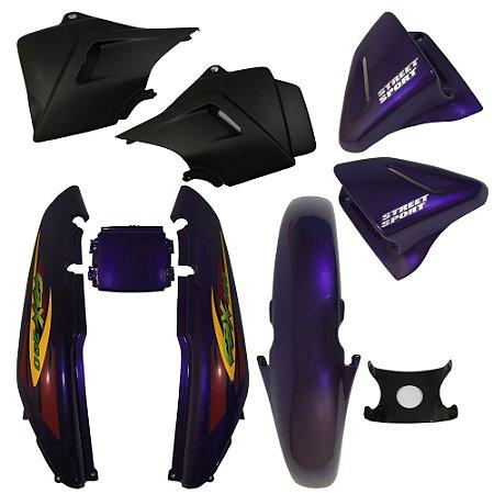 Kit Carenagem Adesivada Honda CBX 200 Strada 2000 Roxo - Sportive