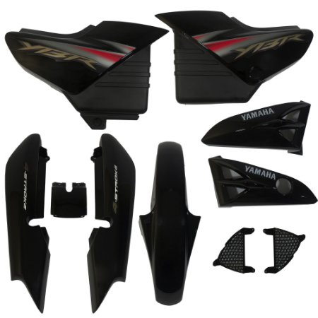 Kit Carenagem Adesivada Yamaha Ybr 125 2005 Preto - Sportive