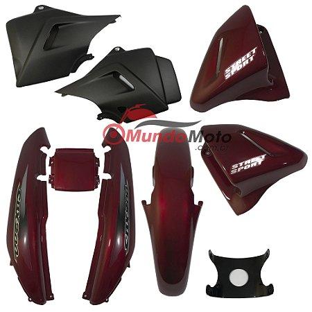Kit Carenagem Adesivada Honda CBX 200 Strada 2002 Vermelho - Sportive