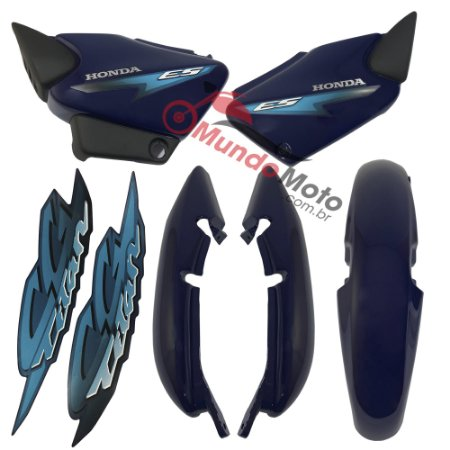 Kit Carenagem Adesivada Titan 125 ES 2002 Azul - Sportive