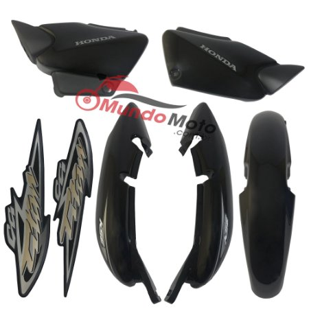 Kit Carenagem Adesivada Titan 125 KSE 2004 Preto - Sportive