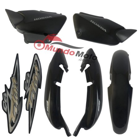 Kit Carenagem Adesivada Titan 125 ES 2004 Preto - Sportive