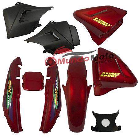Kit Carenagem Adesivada Honda CBX 200 Strada 1999 Vermelho - Sportive
