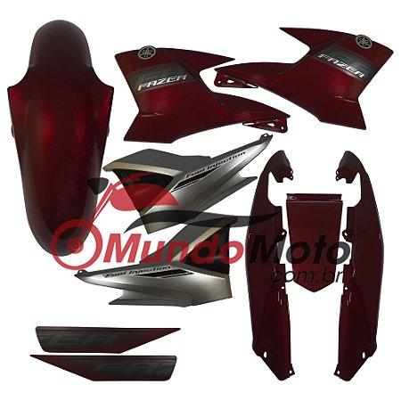 Kit Carenagem Adesivada Fazer 250 2011 Vermelho - Sportive
