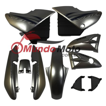 Kit Carenagem Adesivada Yamaha Ybr 125 2006 Prata - Sportive