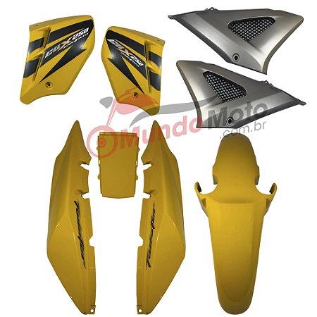 Kit Carenagem Adesivada Honda CBX 250 Twister 2008 Amarelo - Sportive