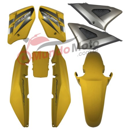 Kit Carenagem Adesivada Honda CBX 250 Twister 2007 Amarelo - Sportive