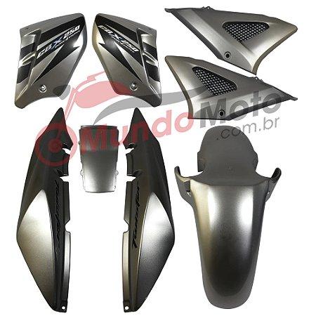 Kit Carenagem Adesivada Honda CBX 250 Twister 2007 Prata - Sportive