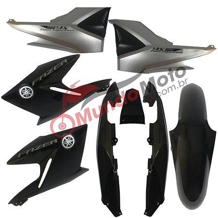 Kit Carenagem Adesivada Fazer 250 2012 Preto - Sportive