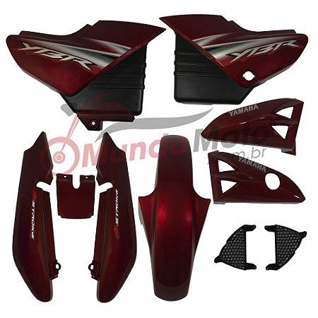 Kit Carenagem Adesivada Yamaha Ybr 125 2006 Vermelho - Sportive