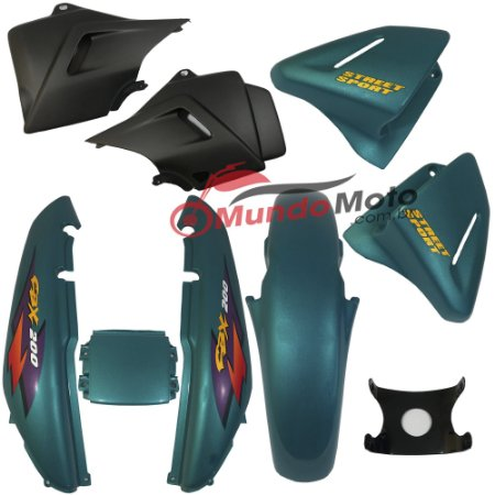 Kit Carenagem Adesivada CBX 200 Strada 1998 Verde - Sportive