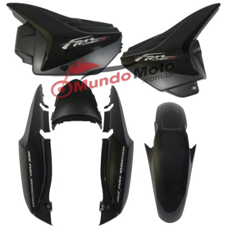 Kit Carenagem Adesivada Honda Fan 150 2012 ESI Preto - Sportive