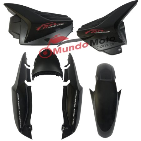 Kit Carenagem Adesivada Honda Fan 150 2013 ESI Preto - Sportive