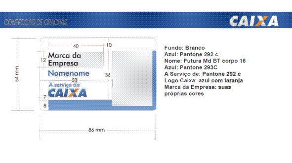 CRACHÁ PADRÃO CAIXA