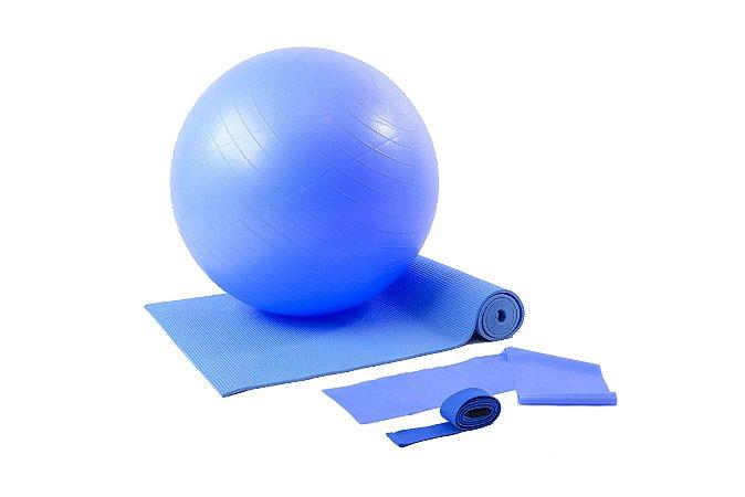 Kit yoga/pilates azul 500102