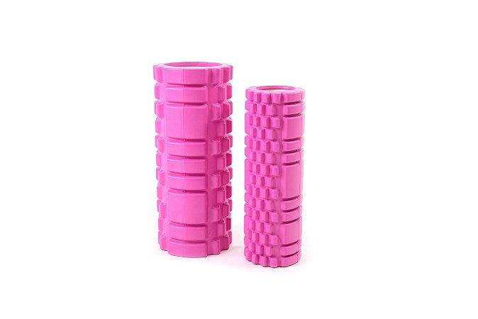 Kit de 2 rolos de massagem e liberação miofascial - Rosa 51007