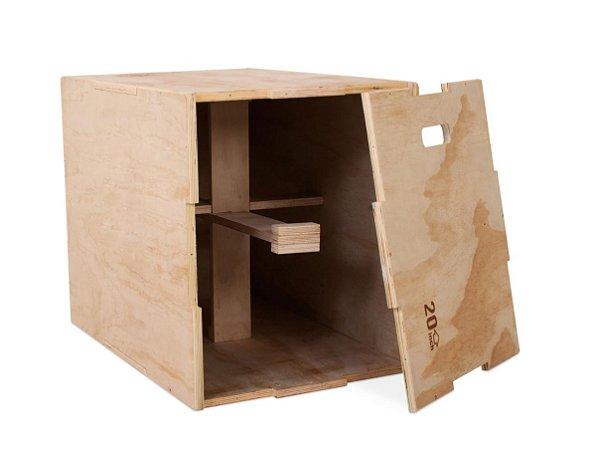 Caixa de salto 3 em 1 de madeira 70001