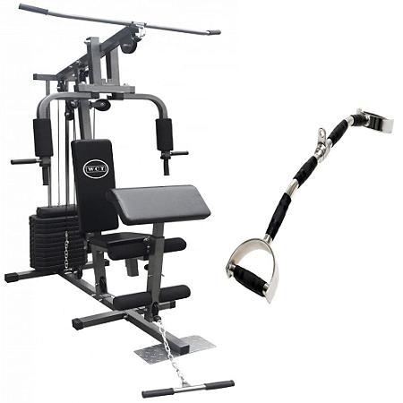 Estação de musculação 80kg 001 + Puxador romano 1108