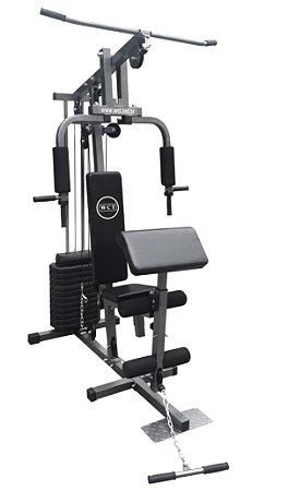 Estação de musculação 80kg 001 + Puxador V 1102