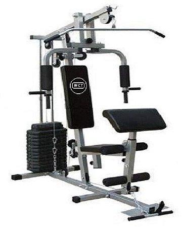 Estação de musculação 80kg 001 + Kettlebell ajustável 9,1kg 1012