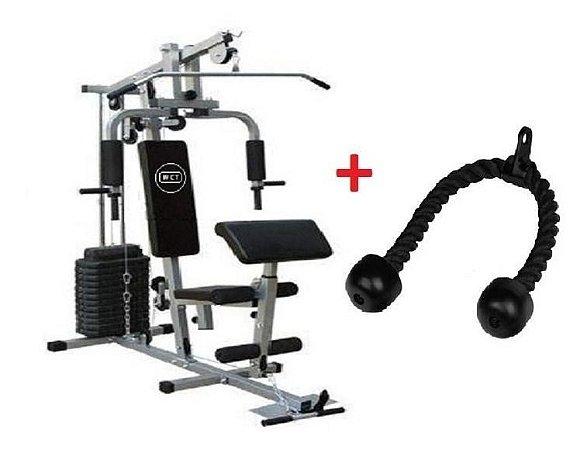 Estação de musculação 80kg 001 + Puxador corda 112