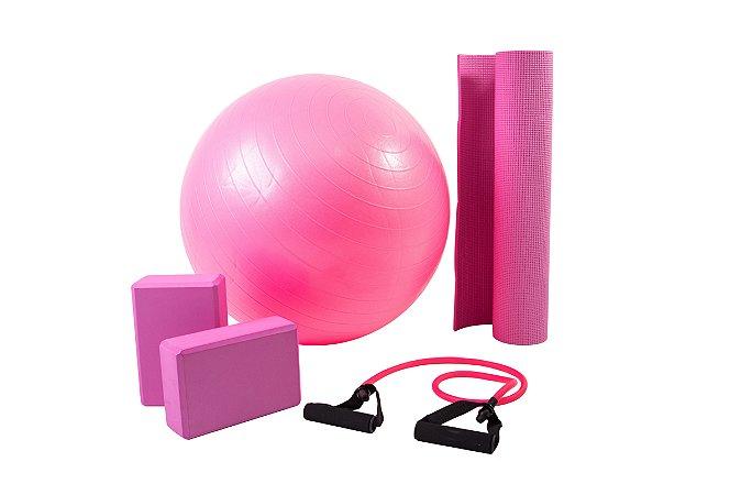 Kit yoga/pilates rosa 5002