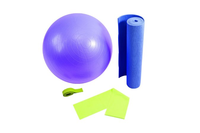 Kit yoga/pilates colorido 5001
